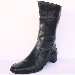 Women's ECCO Black Leather Below the knees Boots